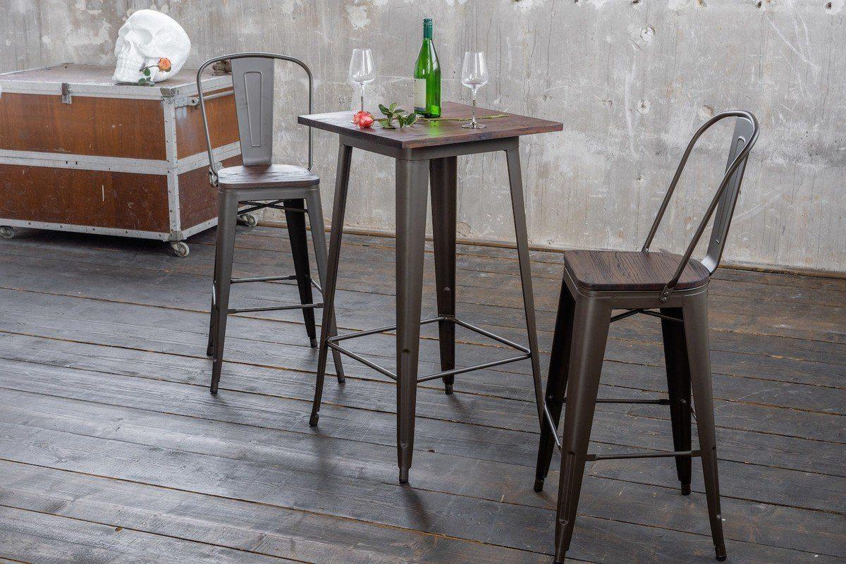 KAWOLA Bartisch Holz/Metall »VILDA«