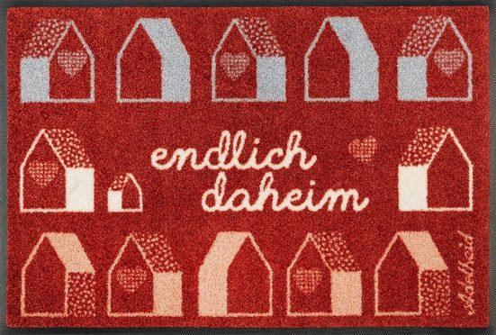 Fußmatte »Endlich Daheim«, wash+dry by Kleen-Tex, rechteckig, Höhe 7 mm, In- und Outdoor geeignet, waschbar