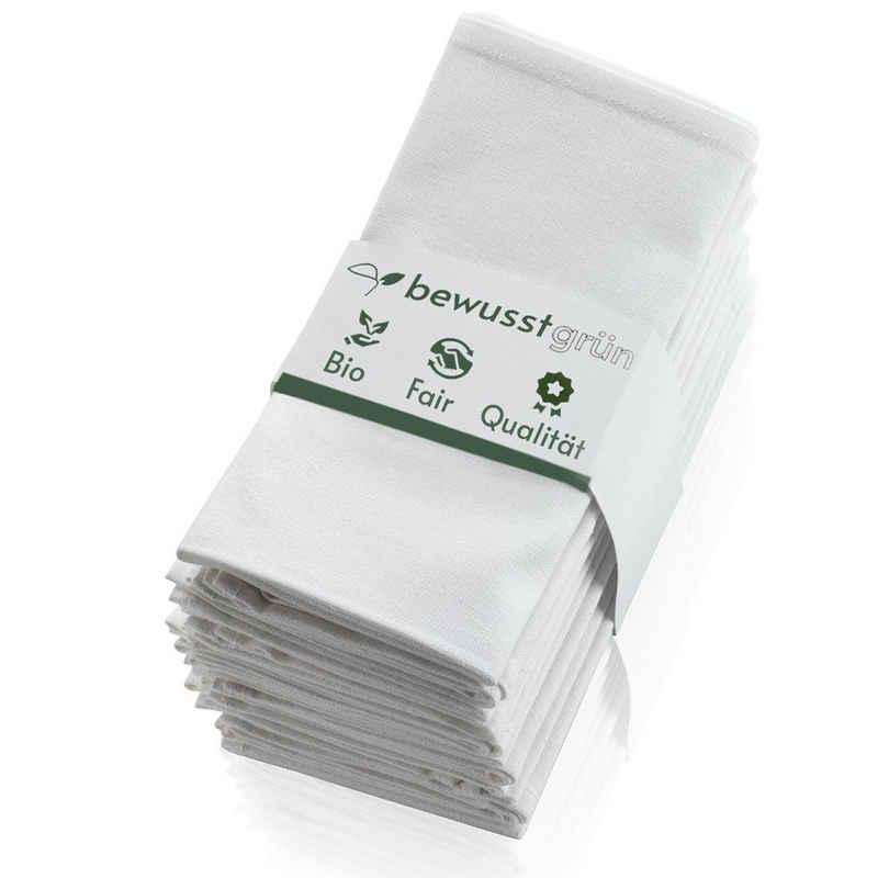 BewusstGrün Stoffserviette »12 Nachhaltige & Faire Stoffservietten«, (45 x 45 cm, 12 St., Set Servietten Stoff aus 100% Bio-Baumwolle), Aufwertung des gemeinsamen Esstisches für Anlässe und Alltag