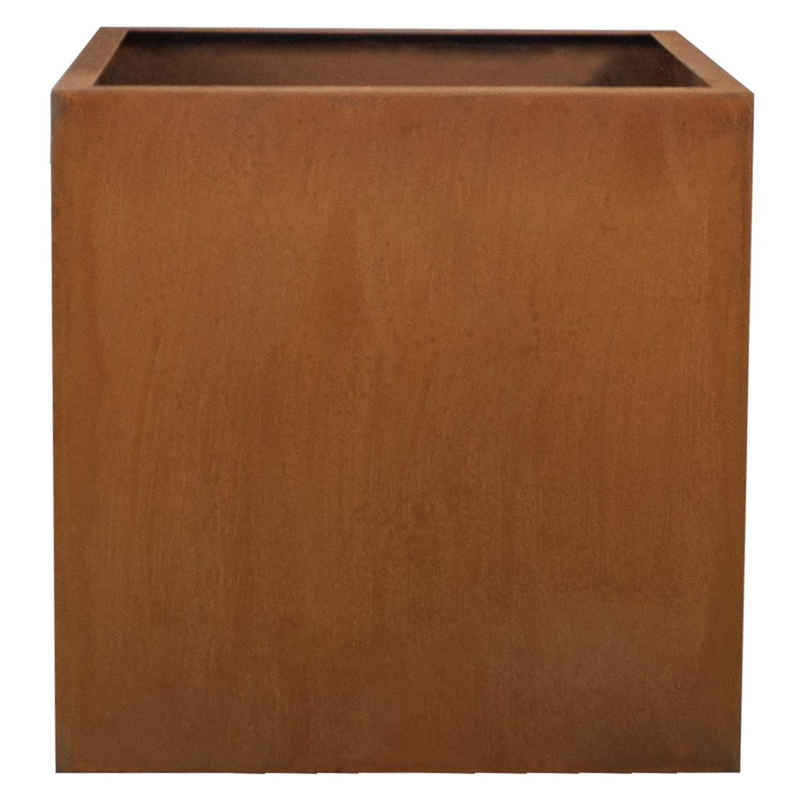 Köhko Pflanzkübel »KÖHKO® Designer-Blumenkübel aus Cortenstahl Pflanztopf in Edelrost-Optik Quadrat«
