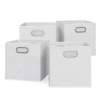 Vicco Faltbox »4er Set 30x30 cm weiß Faltkiste Aufbewahrungsbox Regalbox Box«