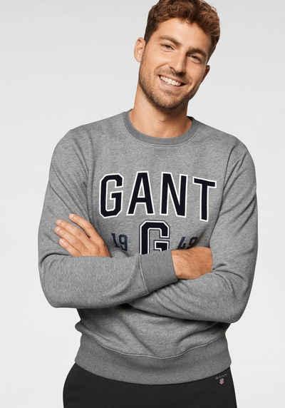Gant Sweatshirt GANT Applikation veredelt mit Samt