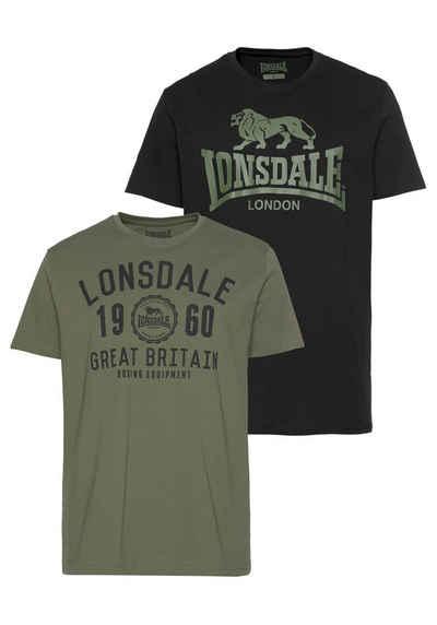 Lonsdale T-Shirt »BANGOR« (Packung, 2-tlg., 2er-Pack)