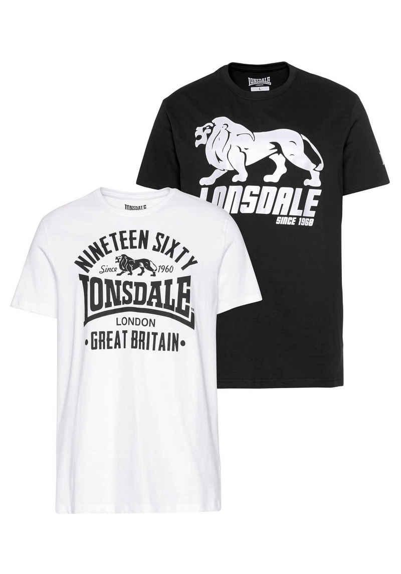 Lonsdale T-Shirt »BYLCHAN« (Packung, 2er-Pack)