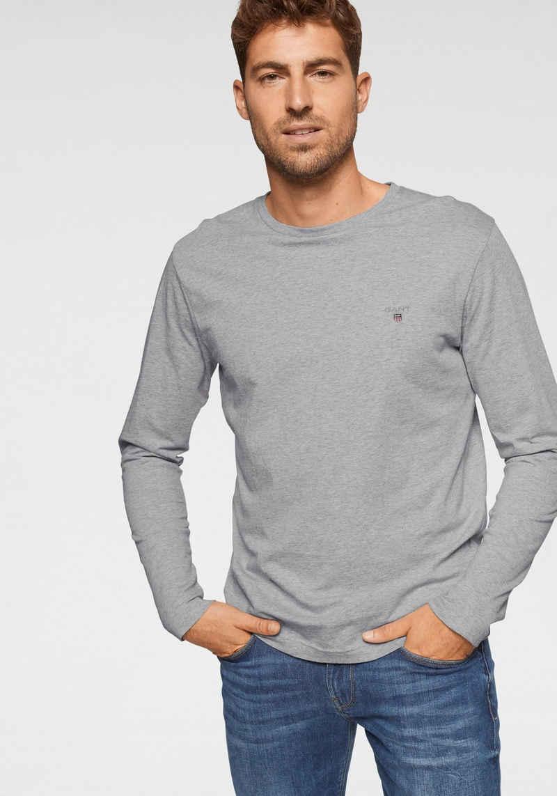 Gant Langarmshirt »Regular-fit« Tragangenehme Baumwollqualität