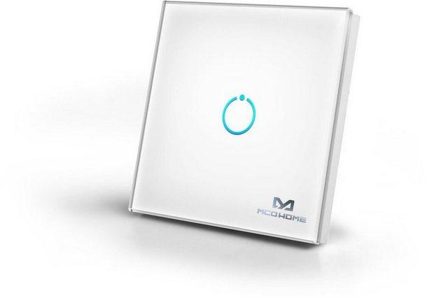Z-Wave Smart Home Zubehör »Glas-Wandschalter (1 Taste) - Z-Wave« | Baumarkt > Elektroinstallation > Lichtschalter | Z-Wave