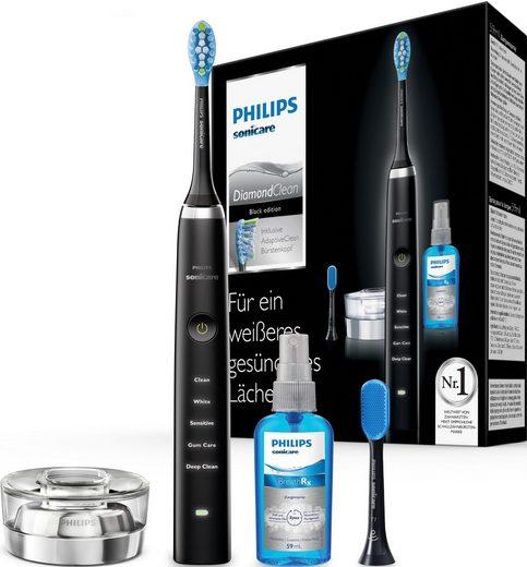 Philips Sonicare Schallzahnbürste HX9355/86 Diamond Clean Neue Generation, Aufsteckbürsten: 2 St., 5 Putzprogramme, inkl. Zungenreinigungsset