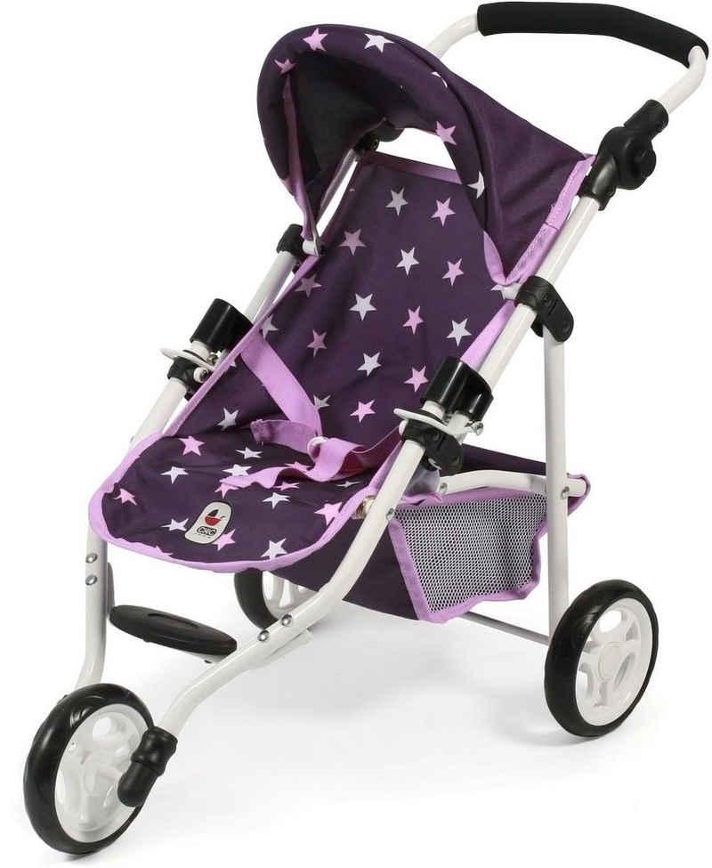 CHIC2000 Puppenbuggy »Jogging-Buggy Lola, Stars lila«, mit klappbarem Verdeck