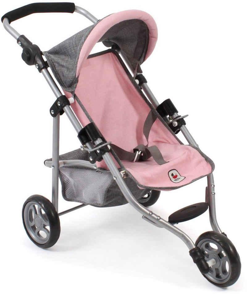 CHIC2000 Puppenbuggy »Jogging-Buggy Lola, grau-rosa«, mit klappbarem Verdeck