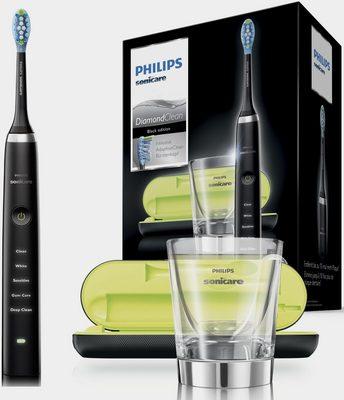 Philips Sonicare Schallzahnbürste HX9359/89 Diamond Clean Neue Generation, Aufsteckbürsten: 1 St., inkl. USB-Reise-Ladeetui & Ladeglas