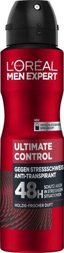 L'ORÉAL PARIS MEN EXPERT Deo-Spray »Ultimate Control«, schützt gegen verschiedene Schweiß-Arten