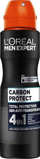 L'ORÉAL PARIS MEN EXPERT Deo-Spray »Carbon Protect Anti-Transpirant«, mit 48H Trockenschutz