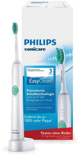 Philips Sonicare Schallzahnbürste HX6510/22 EasyClean, Aufsteckbürsten: 1 St., mit Clean-Putzprogramm, Timer, Ladegerät