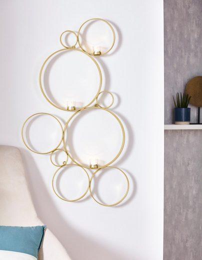 Leonique Wandkerzenhalter »Kreise«, für 3 Teelichter