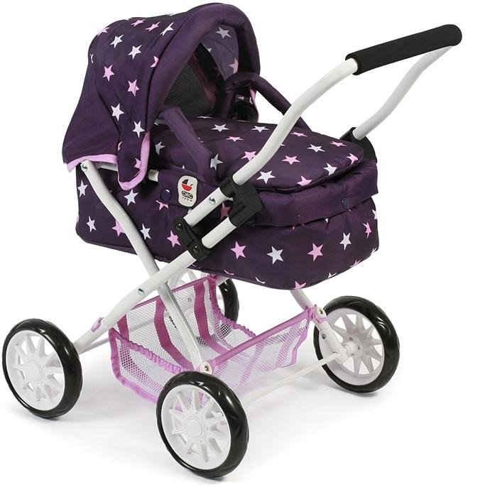 CHIC2000 Puppenwagen »Mini-Kuschelwagen Smarty, Stars lila«, mit herausnehmbarer Tragetasche