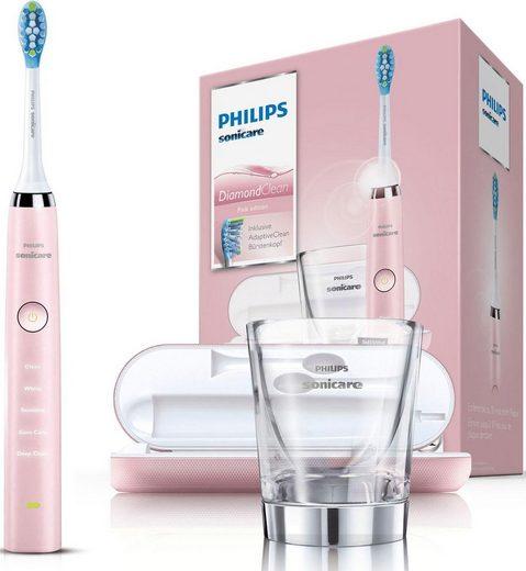 Philips Sonicare Schallzahnbürste HX9369/89 Diamond Clean Neue Generation, Aufsteckbürsten: 1 St., inkl. USB-Reise-Ladeetui & Ladeglas