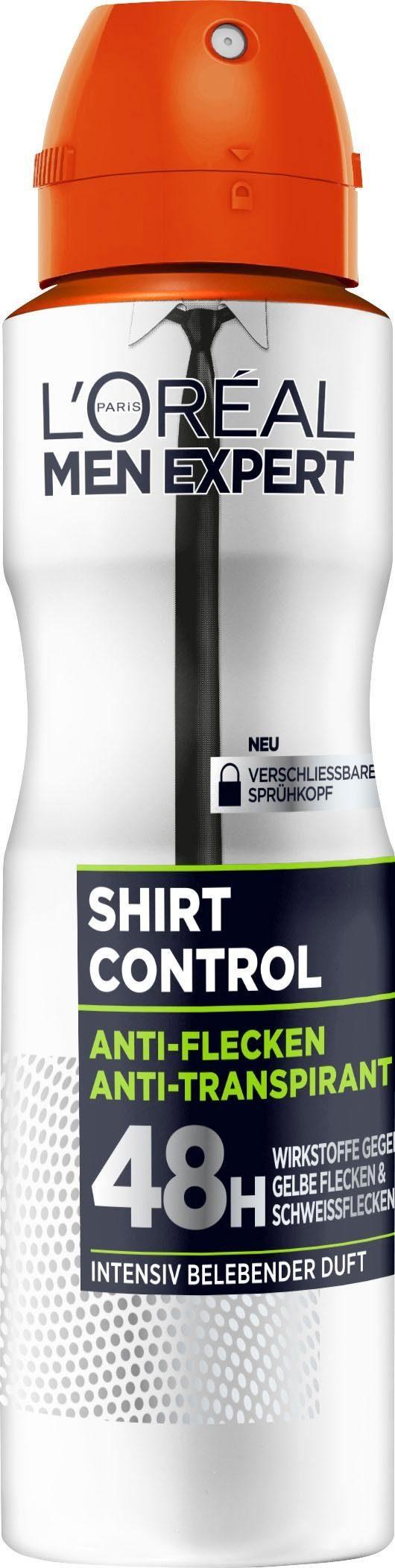 L'ORÉAL PARIS MEN EXPERT Deo-Spray »Shirt Control Anti-Transpirant«, mit 48H Trockenschutz