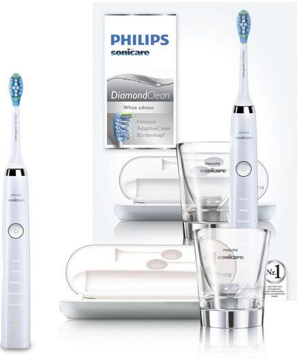 Philips Sonicare Schallzahnbürste HX9339/89 Diamond Clean Neue Generation, Aufsteckbürsten: 1 St., inkl. USB-Reise-Ladeetui & Ladeglas