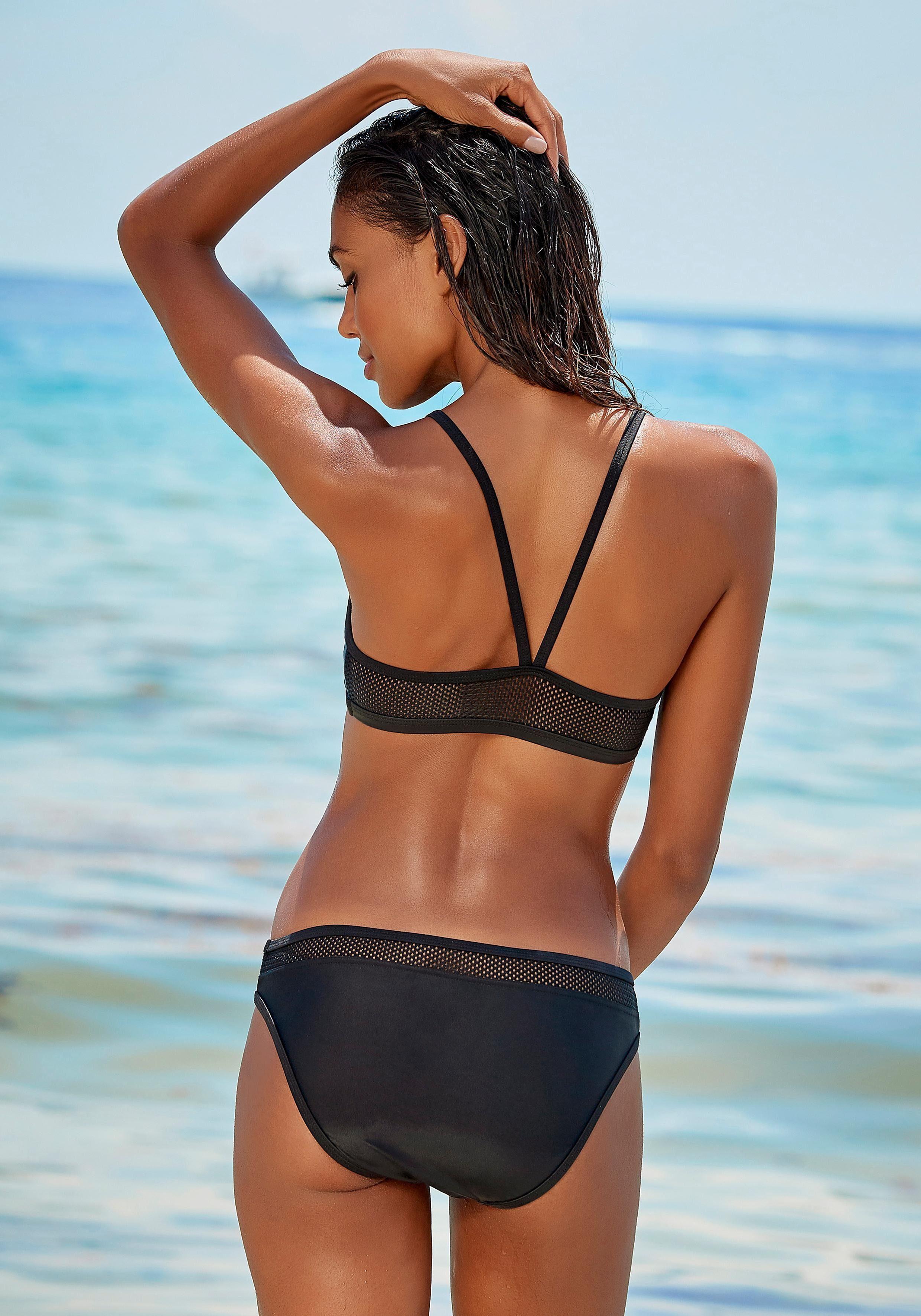 Lascana Active Bustier-bikini, Transparente Mesh-einsätze Online Kaufen