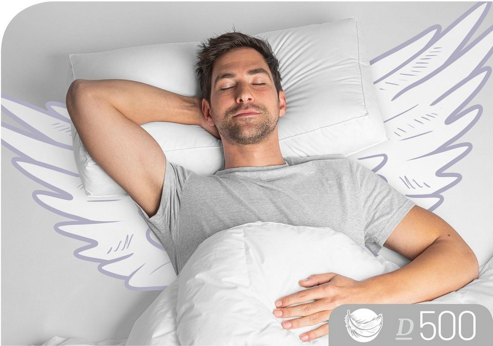 Nackenstutzkissen D500 Schlafstil Fullung 90 Daunen Und 100 Federn Im Kern Bezug 100 Baumwolle 1 Tlg Online Kaufen Otto