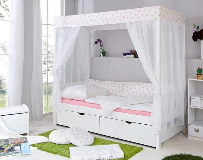 ticaa einzel himmelbett lino mit schubk sten melanie. Black Bedroom Furniture Sets. Home Design Ideas