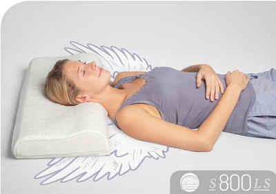 Nackenstützkissen, »S800 LS«, Schlafstil, Füllung: Talalay Natur Latex Soft, Bezug: Polyester & Tencel, (1-tlg), Aktiv stützend