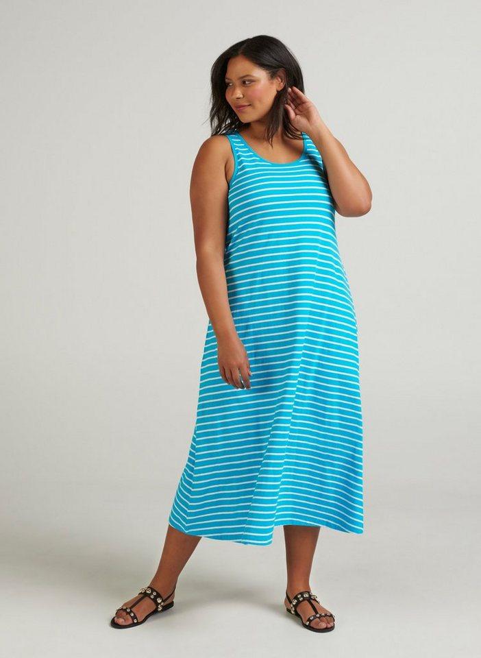 e6e4a4b44239 Zizzi Sommerkleid Damen Jersykleid Ärmellos Loose Casual 7/8 Langes Kleid  Große Größen online kaufen | OTTO