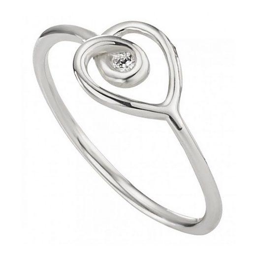 CAÏ Ring »925/- Sterling Silber rhodiniert Zirkonia«