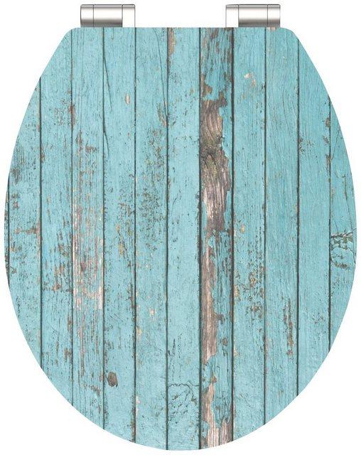 WCs und Zubehör - SCHÜTTE WC Sitz »Blue Wood«, mit Absenkautomatik  - Onlineshop OTTO