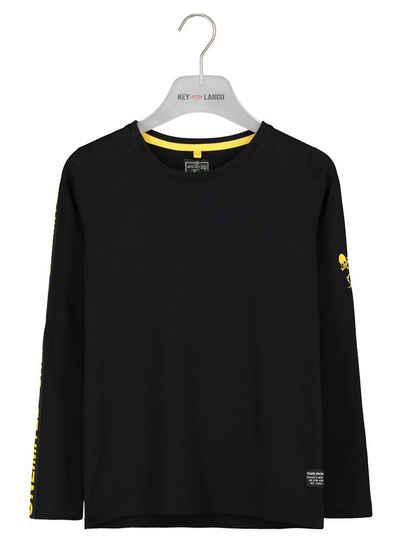 Key Largo Langarmshirt mit trendigem Schriftzug