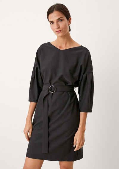 s.Oliver BLACK LABEL Minikleid »Feines Kleid aus Viskosemix mit Gürtel«