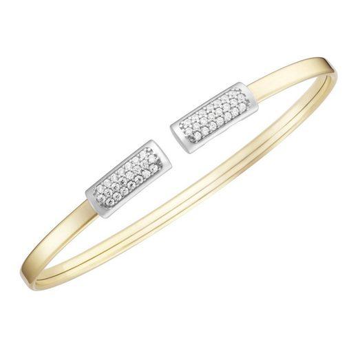 Smart Jewel Armspange »flexibel, mit Zirkonia Steinen, Silber 925«
