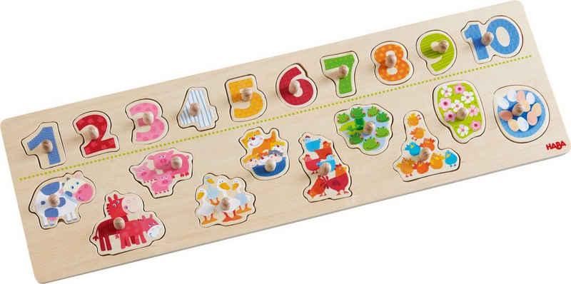 Haba Steckpuzzle »Tierischer Zählspaß«, 20 Puzzleteile