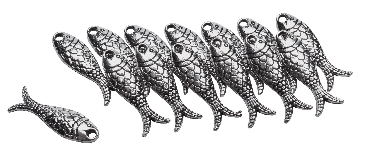 """Metall-Anhänger """"Fische"""" 14 Stück"""