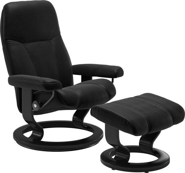 Sessel und Hocker - Stressless® Relaxsessel »Consul« (Set), mit Hocker, mit Classic Base, Größe M, Gestell Schwarz  - Onlineshop OTTO