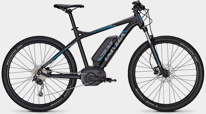 "Univega E-Bike »Sondermodell 27"" LTD 2.7 9 G«, 9 Gang Shimano Deore M592 Schaltwerk, Kettenschaltung, Mittelmotor 250 W"