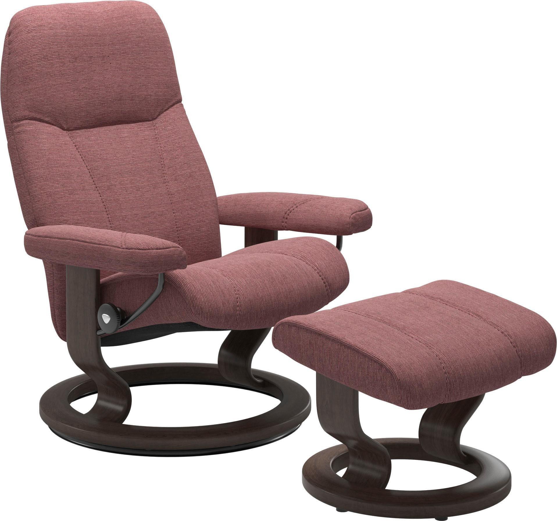 Stressless® Set: Relaxsessel mit Hocker »Consul« mit Classic Base, Größe S, Gestell Wenge