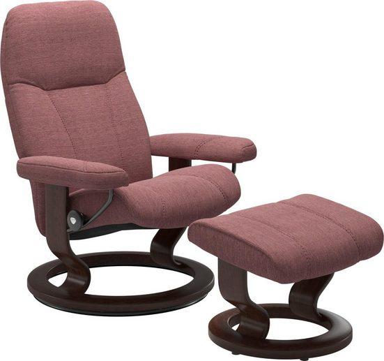 Stressless® Relaxsessel »Consul« (Set), mit Hocker, mit Classic Base, Größe S, Gestell Braun
