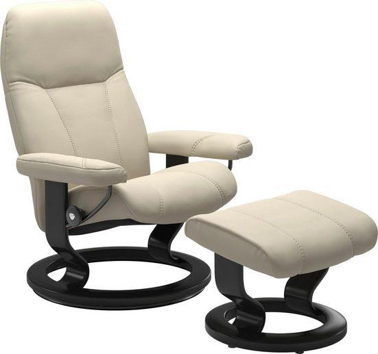 Stressless® Relaxsessel »Consul« (Set), mit Hocker, mit Classic Base, Größe M, Gestell Schwarz