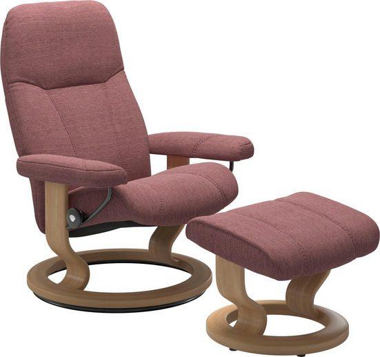 Stressless® Relaxsessel »Consul« (Set), mit Hocker, mit Classic Base, Größe S, Gestell Eiche