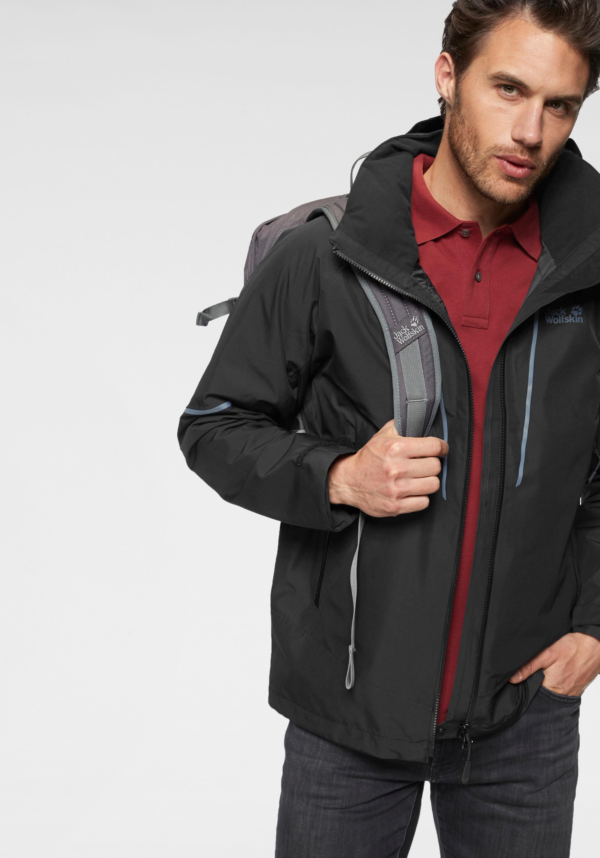 jack wolfskin escalente jacket männer regenjacke