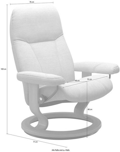 Stressless® Relaxsessel »Consul«, mit Classic Base, Größe M, Gestell Whitewash