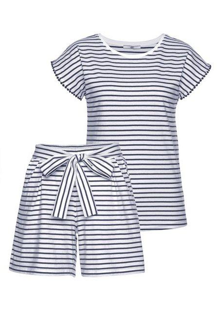 Hosen - AJC Jumpsuit (Set, 2 tlg) T Shirt Shorts im Overall Look › weiß  - Onlineshop OTTO