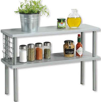 KESPER for kitchen & home Ablageregal, mit 2 Ablageböden in Farbe grau