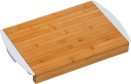 KESPER for kitchen & home Schneidebrett, Bambus, Kunststoff, mit 2 Auffangschalen