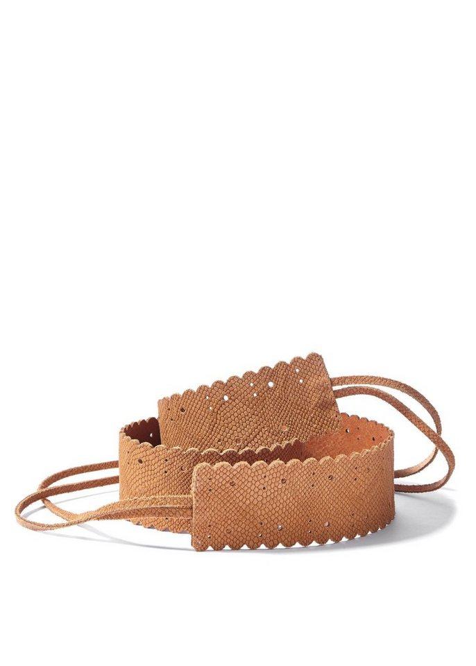Stufen von Sportschuhe toller Wert LASCANA Taillengürtel aus Leder zum Binden kaufen | OTTO