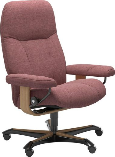 Stressless® Relaxsessel »Consul«, mit Home Office Base, Größe M, Gestell Eiche