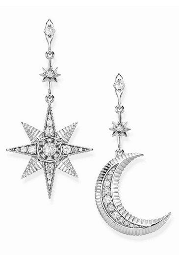 THOMAS SABO Paar Ohrstecker »Royalty Stern & Mond, H2026-643-14«, mit Zirkonia