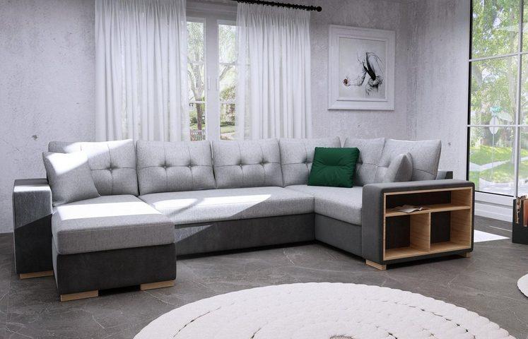 SofaGreen Wohnlandschaft, mit Bettfunktion und Bettkasten