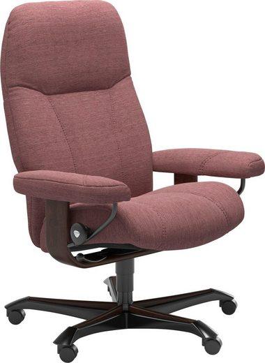 Stressless® Relaxsessel »Consul«, mit Home Office Base, Größe M, Gestell Braun